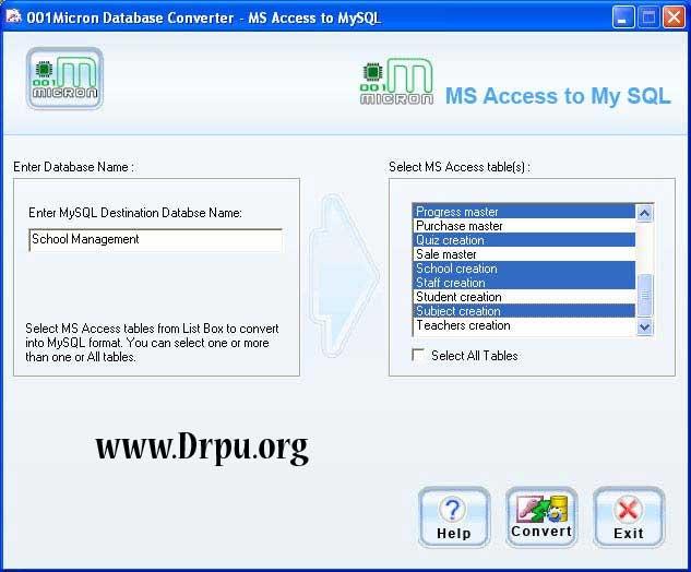 MS Access to MySQL