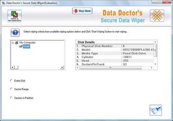 Disk Data Eliminator